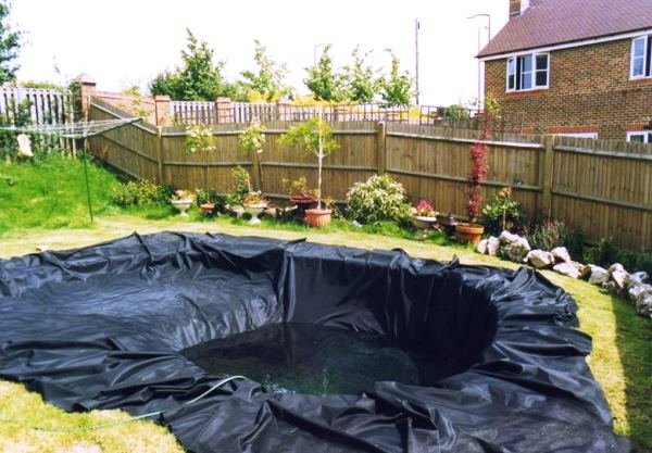 Искусственный пруд на даче фото