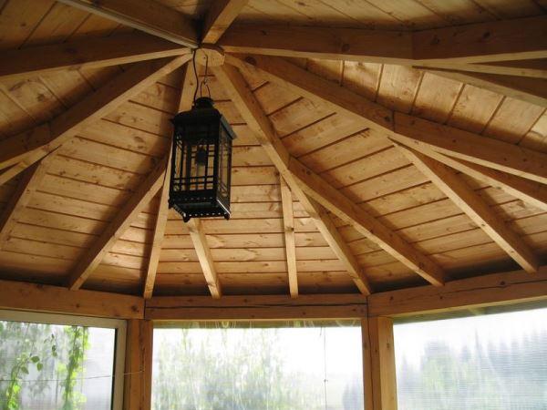 шатровая крыша беседки