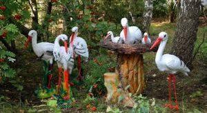 садовые скульптуры своими руками из подручных материалов