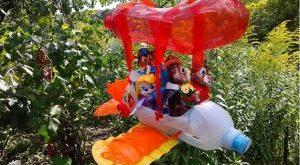 поделки из пластиковых бутылок для сада и огорода описание и фото