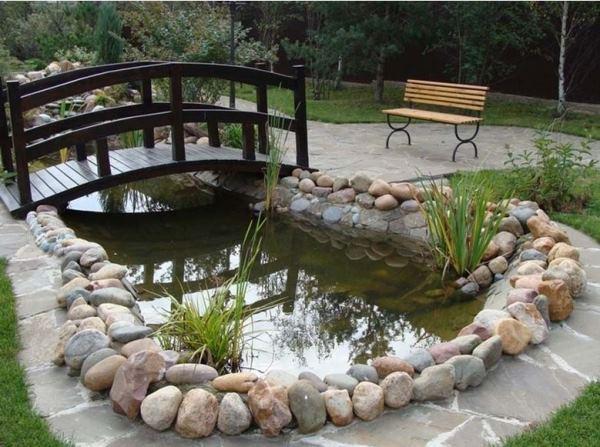 Дизайн пруда на даче своими руками фото