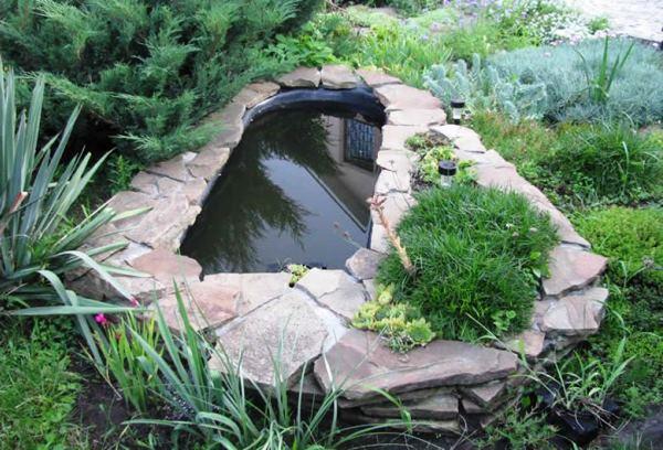 Дизайн пруда на даче фото